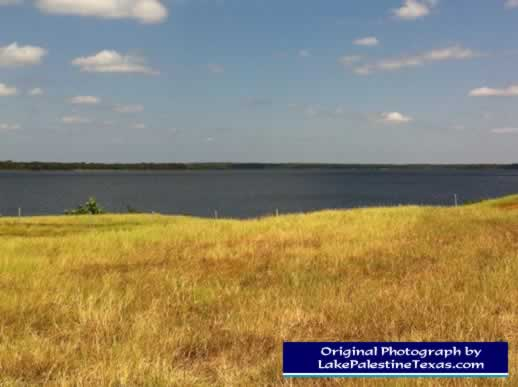 Looking north across Lake Palestine from near the dam - 08/04/2012